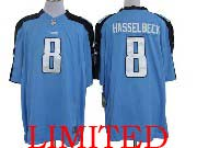 Mens Nfl Tennessee Titans #8 Hasselbeck Light Blue Limited Jersey