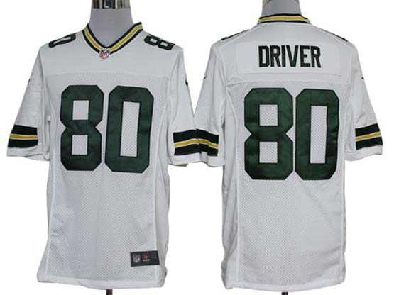 Mens Nfl Green Bay Packers #80 Driver White Limited Jersey