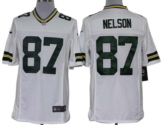Mens Nfl Green Bay Packers #87 Nelson White Limited Jersey