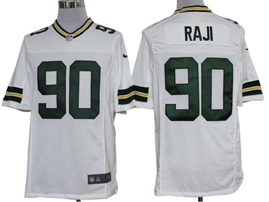 Mens Nfl Green Bay Packers #90 Raji White Limited Jersey