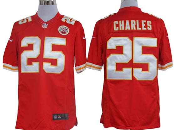 Mens Nfl Kansas City Chiefs #25 Charles Red Limited Jersey