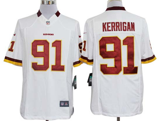 Mens Nfl Washington Redskins #91 Kerrigan White Limited Jersey