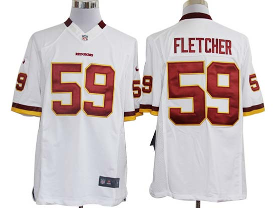 Mens Nfl Washington Redskins #59 Fletcher White Limited Jersey