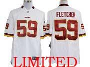 Youth Nfl Washington Redskins #59 Fletcher White Limited Jersey