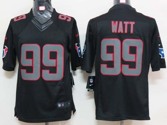 mens nfl Houston Texans #99 JJ Watt black impact limited jersey