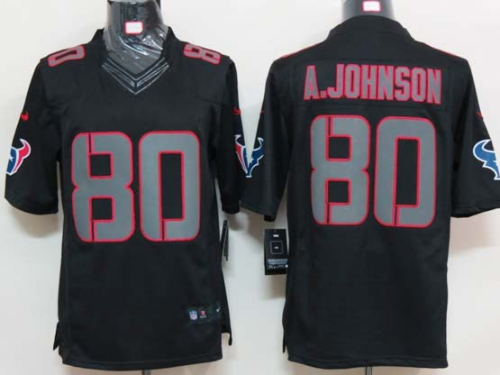 Mens Nfl Houston Texans #8o A.johnson Black Impact Limited Jersey