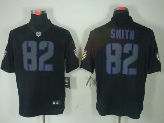 Mens Nfl Baltimore Ravens #82 Torrey Smith Black Impact Limited Jersey