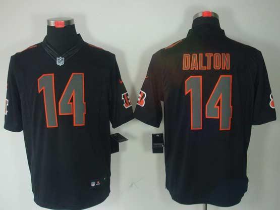 Mens Nfl Cincinnati Bengals #14 Dalton Black Impact Limited Jersey