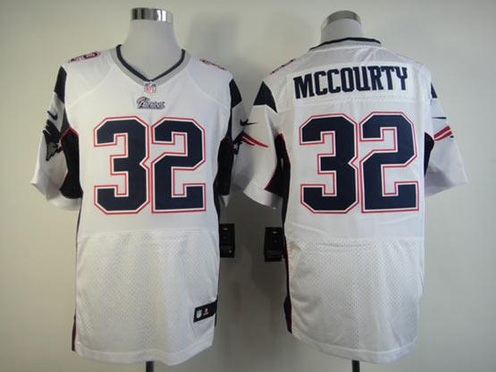 Mens Nfl New England Patriots #32 Mccourty White Elite Jersey