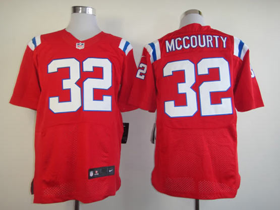 Mens Nfl New England Patriots #32 Mccourty Red Elite Jersey