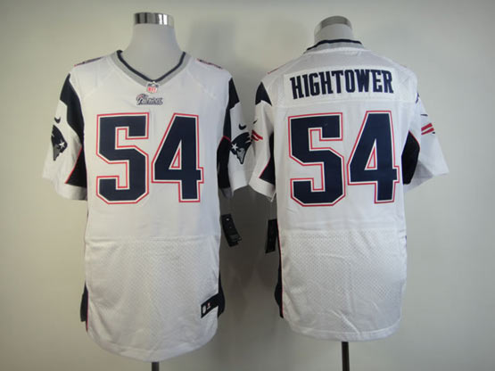 Mens Nfl New England Patriots #54 Hightower White Elite Jersey