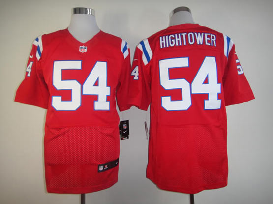Mens Nfl New England Patriots #54 Hightower Red Elite Jersey