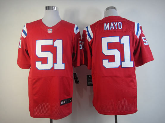 Mens Nfl New England Patriots #51 Mayo Red Elite Jersey