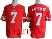 Mens Nfl San Francisco 49ers #7 Kaepernick Red Elite Jersey