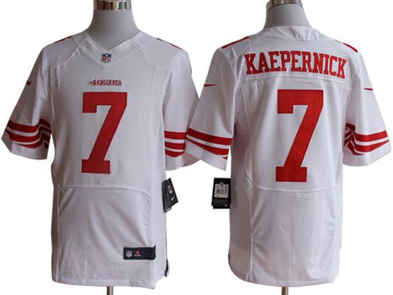 mens nfl San Francisco 49ers #7 Colin Kaepernick white elite jersey