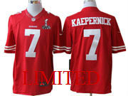 Mens Nk 2013 Superbowl Nfl San Francisco 49ers #7 Kaepernick Red Limited Jersey