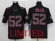 Mens Nfl San Francisco 49ers #52 Willis Black Impact Limited Jersey