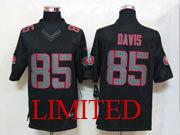 Mens Nfl San Francisco 49ers #85 Davis Black Impact Limited Jersey