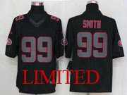 Mens Nfl San Francisco 49ers #99 Smith Black Impact Limited Jersey