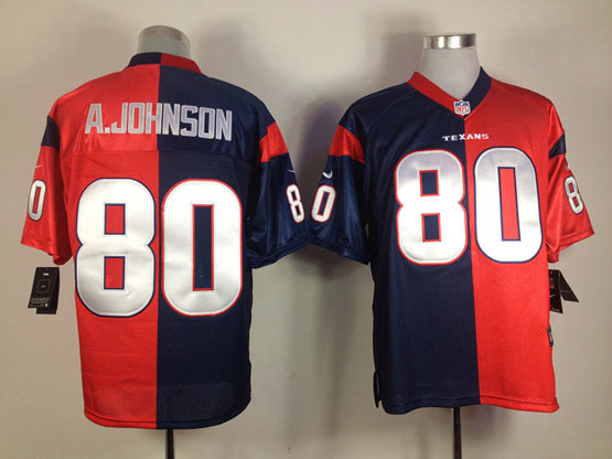 Youth Nfl Houston Texans #80 A.johnson Red&black Elite Jersey