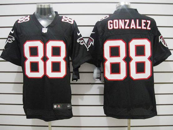 Mens Nfl Atlanta Falcons #88 Gonzalez Black Elite Jersey