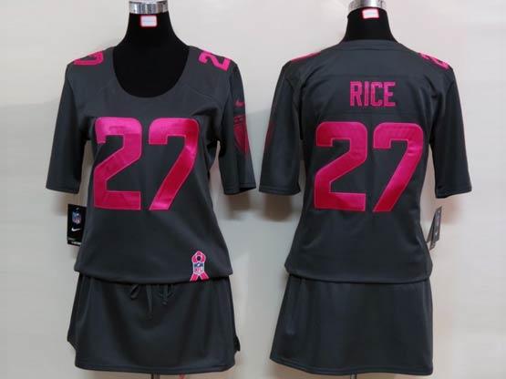 Women  Nfl Baltimore Ravens #27 Sheldon Price Black Breast Cancer Jersey