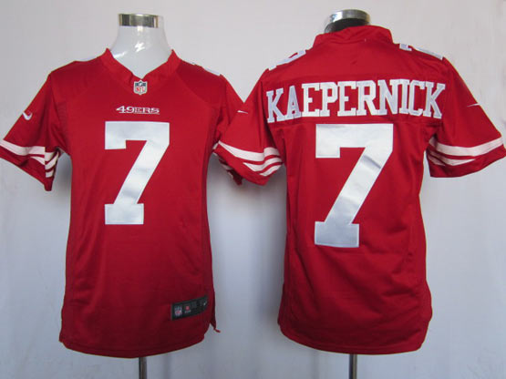 mens nfl San Francisco 49ers #7 Colin Kaepernick red game jersey