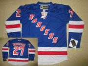 Mens Reebok New York Rangers #27 Ryan Mcdonagh Light Blue Jersey