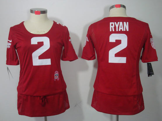 Women  Nfl Atlanta Falcons #2 Ryan Red Breast Cancer Jersey