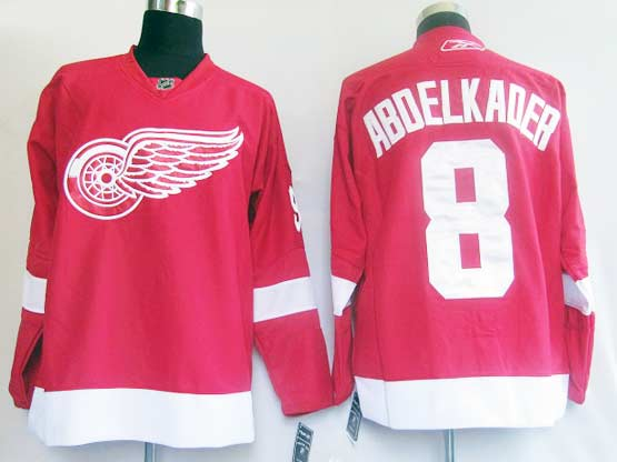 Mens reebok nhl detroit red wings #8 abdelkader red Jersey
