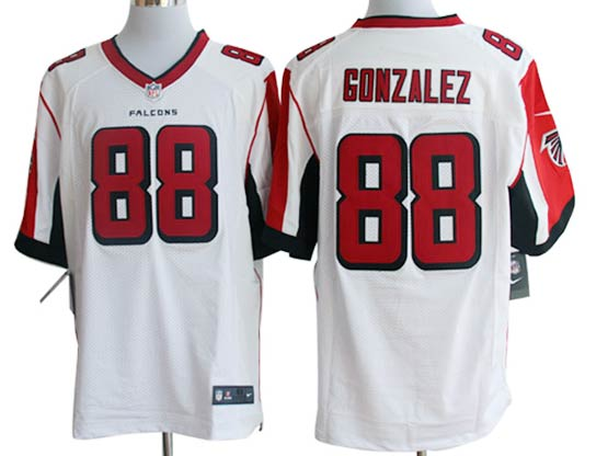 Mens Nfl Atlanta Falcons #88 Gonzalez White Elite Jersey