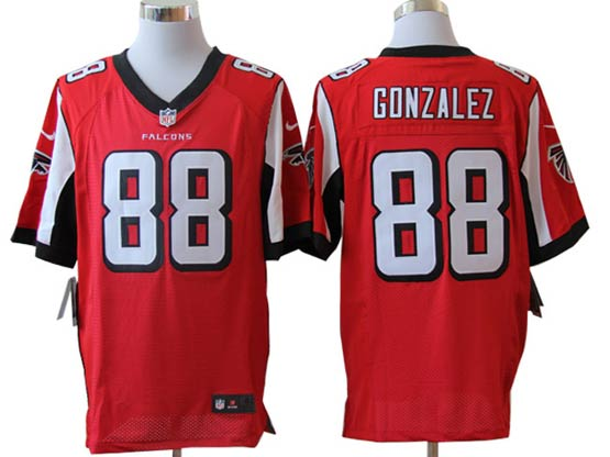 Mens Nfl Atlanta Falcons #88 Gonzalez Red Elite Jersey