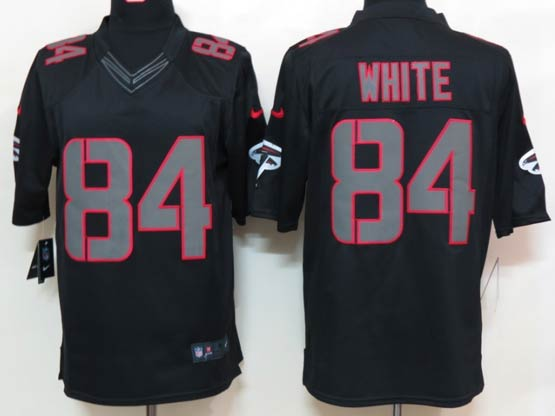 Mens Nfl Atlanta Falcons #84 White Black Impact Limited Jersey