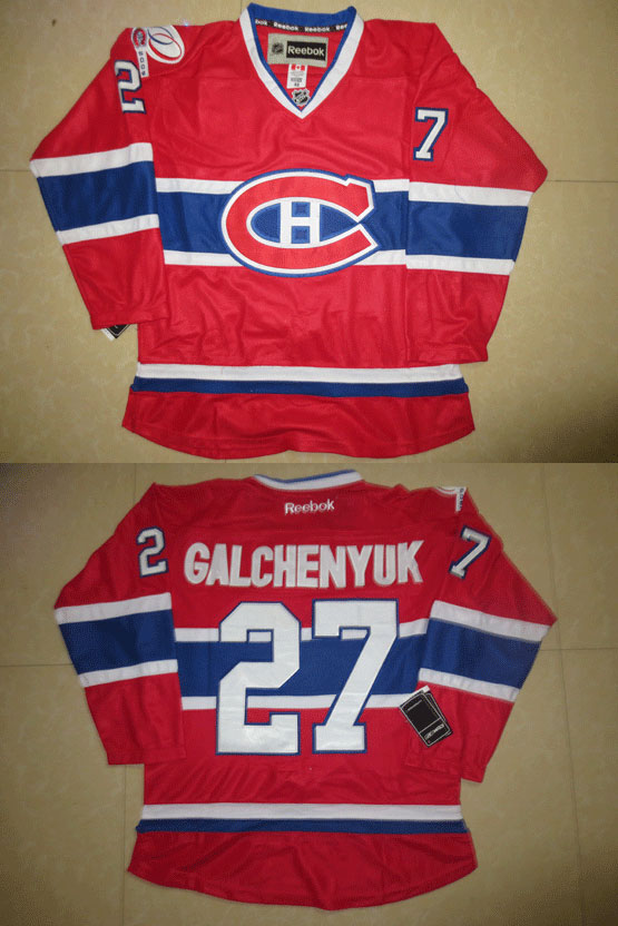 Mens reebok nhl montreal canadiens #27 galchenyuk red (ch) Jersey
