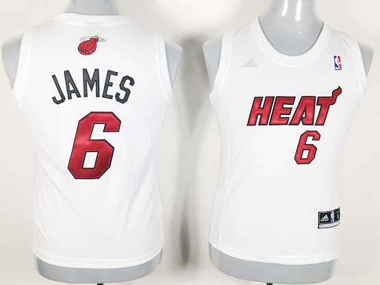 Women  Nba Miami Heat #6 James White Jersey
