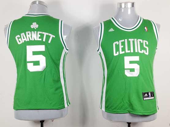 Women  Nba Boston Celtics #5 Garnett Green Jersey