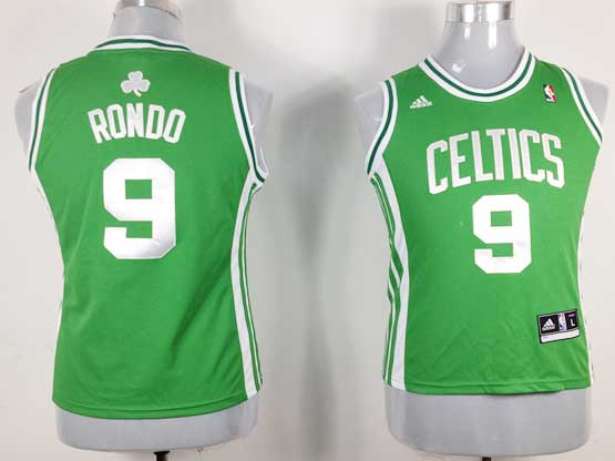 Women  Nba Boston Celtics #9 Rondo Green Jersey