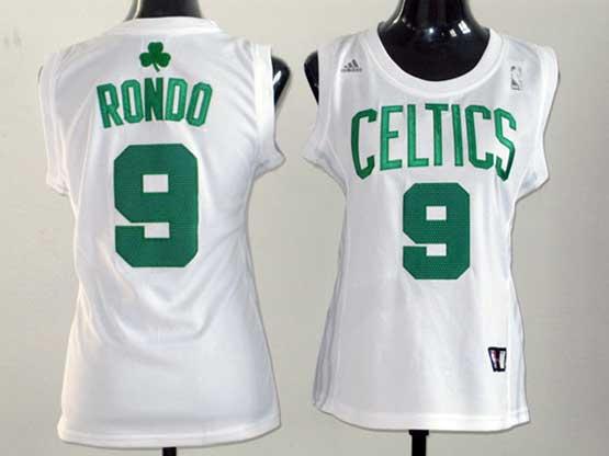 Women  Nba Boston Celtics #9 Rondo White Jersey