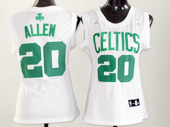 Women  Nba Boston Celtics #20 Allen White Jersey