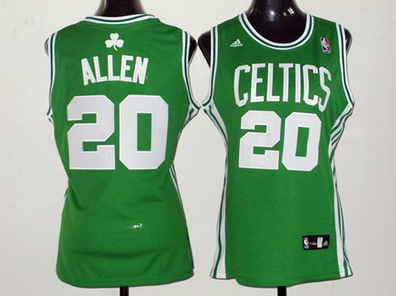 Women  Nba Boston Celtics #20 Allen Green Jersey