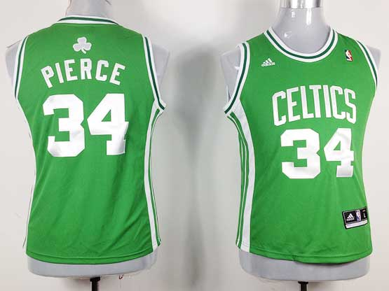 Women  Nba Boston Celtics #34 Paul Pierce Green Jersey