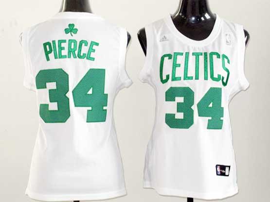 Women  Nba Boston Celtics #34 Paul Pierce White Jersey
