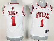 Women  Nba Chicago Bulls #1 Rose White Jersey