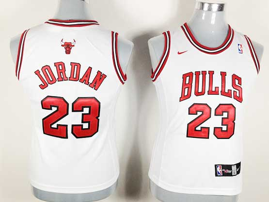 Women  Nba Chicago Bulls #23 Jordan White Jersey