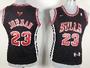 Women  Nba Chicago Bulls #23 Jordan Black (red Number) Jersey