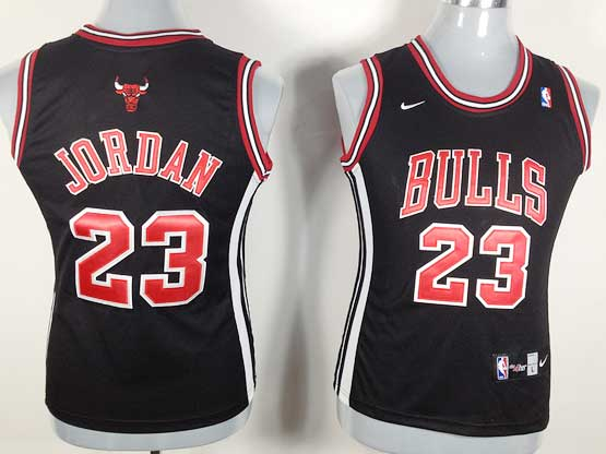 Women  Nba Chicago Bulls #23 Jordan Black (red Number) Jersey