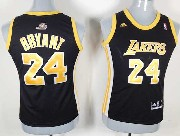 Women  Nba Los Angeles Lakers #24 Bryant Black (gold Number) Jersey