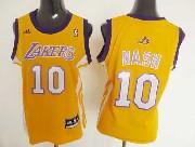 Women  Nba Los Angeles Lakers #10 Nash Gold Jersey