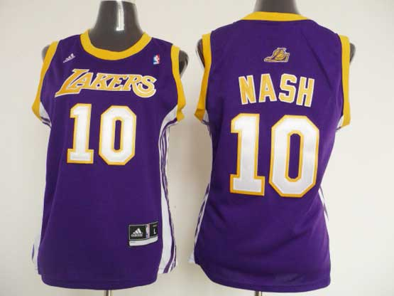Women  Nba Los Angeles Lakers #10 Nash Purple Jersey