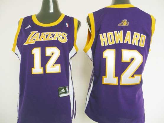 Women  Nba Los Angeles Lakers #12 Howard Purple Jersey